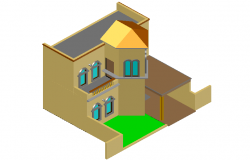 Designer view of 3d home dwg file