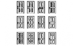 Designs of door and elevation