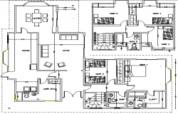 Detach House Architecture Layout and Structure Details dwg file