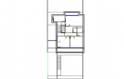 Detached house plan dwg file