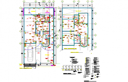 Detail Electrical executive project house 2 levels plan layout file