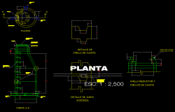 Detail adjustment ring plan and section autoacd file