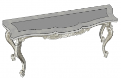 Detail architectural table 3d model sketch-up file