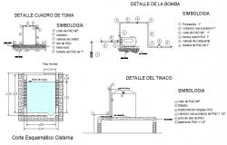Detail box making and section schematic cistern detail autocad file