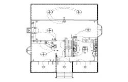 Detail building electrical circuit installation 2d view layout file