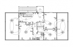 Detail building electrical installation layout 2d view layout file