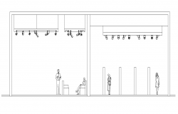 Detail building entrance section 2d view layout file