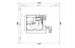 Detail building structure layout dwg file