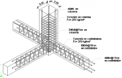 Detail column reinforced concrete slab details dwg file