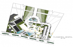 Detail commercial area elevation 2d view layout plan
