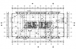 Detail commercial building blocks 2d view layout autocad file