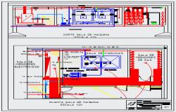 Detail design drawing of engine room design