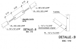 Detail dispositivo tornillo dwg file