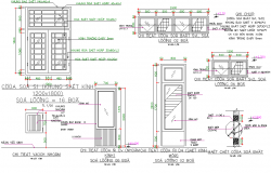 Detail door framing plan