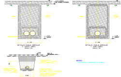 Detail drainage  collector dwg file