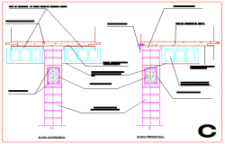 Detail drawing of Intermediate wall and perimeter wall design drawing