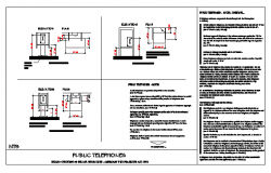 Detail drawing of Public Telephones design drawing