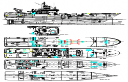 Detail drawing of Ship design