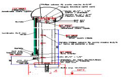 Detail drawing of railing-vertical section design