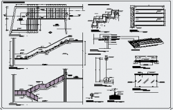 Detail drawing of stair design drawing