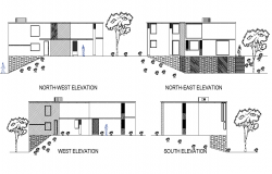 Detail elevation house plan layout file