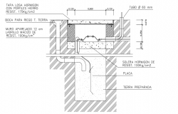 Detail ground connection dwg file