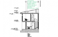 Detail home section plan dwg file