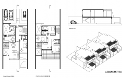 Detail housing building structure 2d view layout autocad file