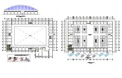 Detail market condo plan dwg file