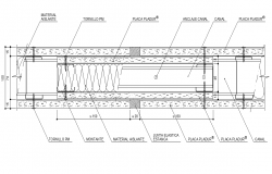 Detail metal structure layout autocad file