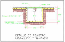 Detail of Hydraulic and Sanitary record design drawing