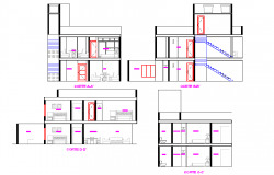 Detail of Section living place autocad file