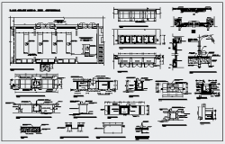 Detail of chemistry laboratory design drawing
