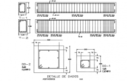 Detail of column dwg file