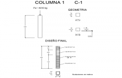 Detail of column section autocad file