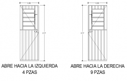 Detail of door elevation dwg file