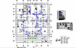 Detail of electrical house plan dwg file