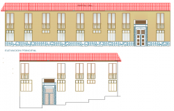Detail of elevation artisanal center autocad file