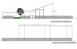 Detail of elevation dwg file