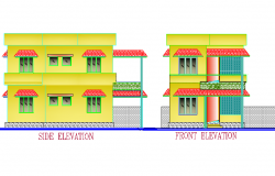 Detail of elevation home autocad file