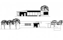 Detail of elevation house plan autocad file