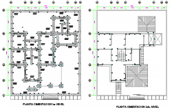 Detail of first level and second level foundation plan detail dwg file