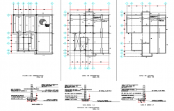 Detail of foundation plan autocad file
