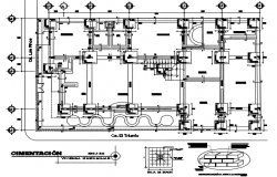 Detail of foundation plan dwg file