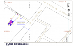 Detail of location plan layout file