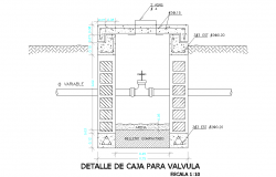 Detail of pipe valve dwg file