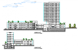 Detail of section civic center plan dwg file