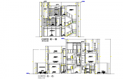 Detail of section home plan autocad file