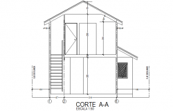 Detail of section house plan autocad file