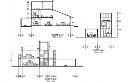 Detail of section living place plan detail autocad file
